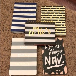 Accessories - Four notebooks and one to-do notepad